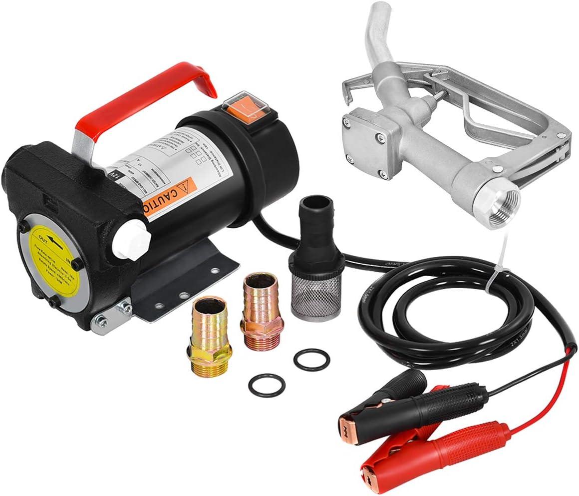 Electric Oil Pump Filter Transfer Mini 12V Diesel Fuel Connector Kit Dc Net New