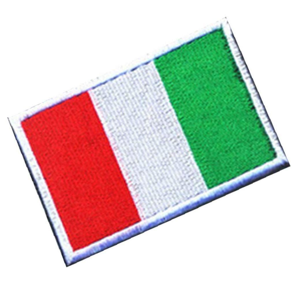 Giacca 1PC Completa Ricamo Italia Bandiera Patch-Zaino Armband Badge Amo E Sticker Loop