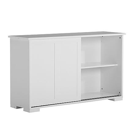 Amazon White Buffet Kitchen Cupboard Cabinet Sideboard W 2
