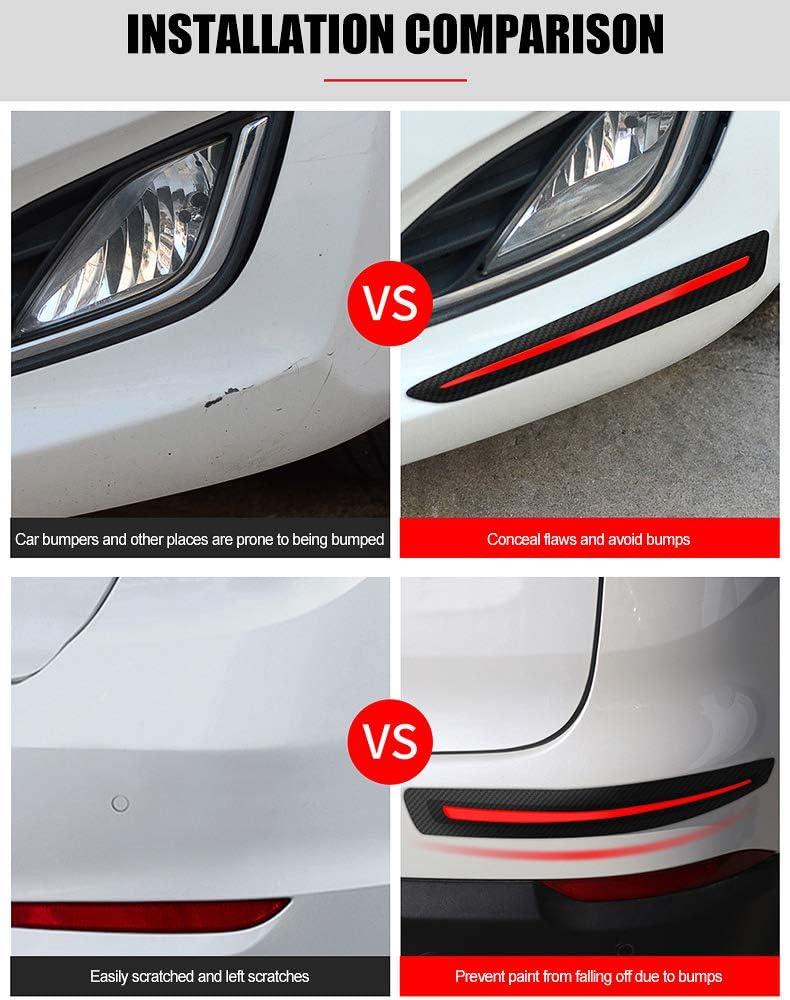 Biqing 2Pcs Porte de Voiture Pare-chocs de Protection,Universel Autocollant de Voiture Protection Pare-chocs Avant Arri/ère Bord Coin Bumper Garde Protecteur Anti-Rayures Autocollant