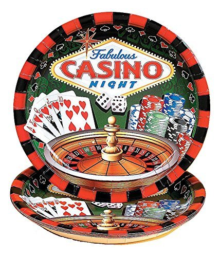 Casino Party Dinner Disposable Plates (16 pcs. per set) -