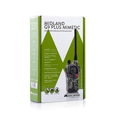 midland g9 plus  Midland G9 Plus C923.12 - Radio comunicatore bibanda, Mimetico ...