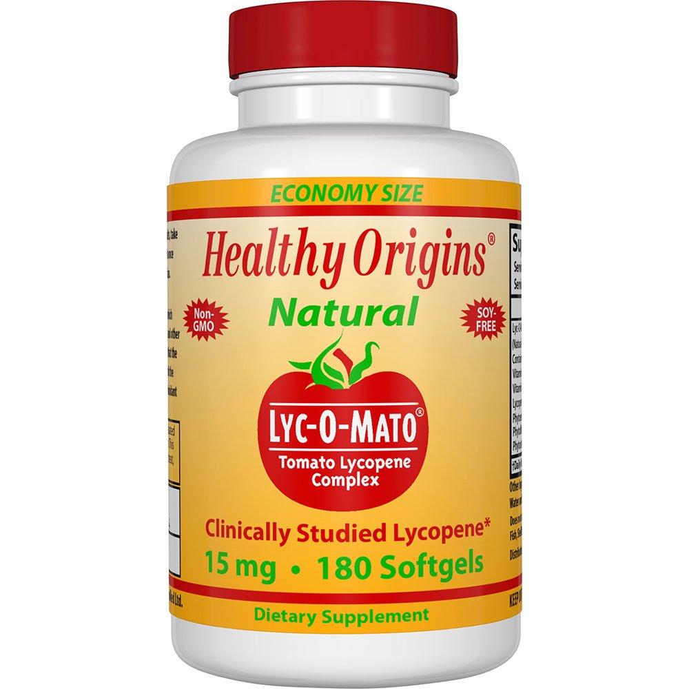 Healthy Origins Lye-O-Mato Lycopene, 15 Mg, 180 Count
