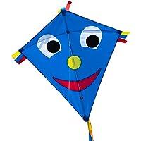 CIM Vlieger voor kinderen - Happy Eddy Blue - Dimense: 65cm x 74cm - Eenlijner - inclusief Vliegersnoer - vliegerkoord - voor kinderen vanaf 3 jaar