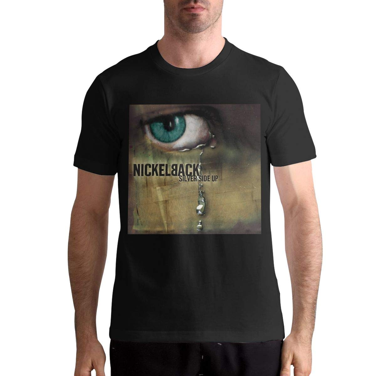 Hazeltdahl Nickelback Casual S Short Sleeve Pattern Tee Black Shirts