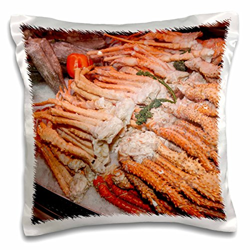 Snow Crab (Danita Delimont - Markets - USA, Massachusetts, Boston, Market King crab legs - US22 JEN0083 - Jim Engelbrecht - 16x16 inch Pillow Case (pc_144674_1))