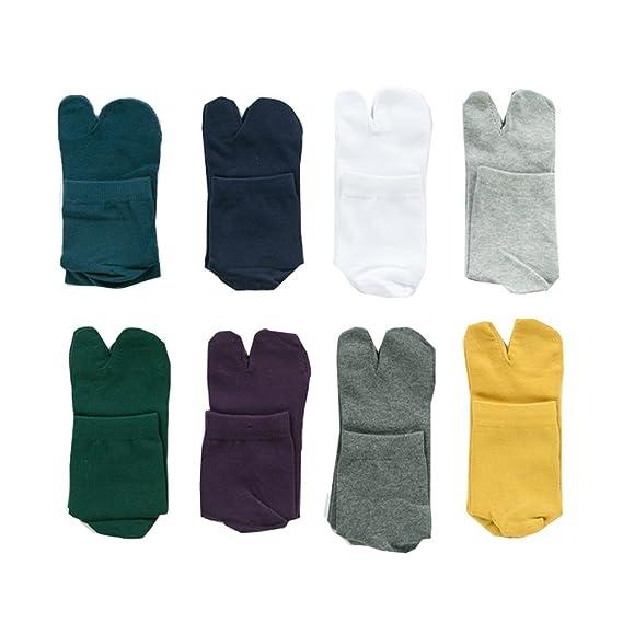 78bc6e6847b Wookki Lot De 8 Paires Chaussette Tabi Sabot Tong Ninja Style Japonaise  Homme Jeune Garçons En
