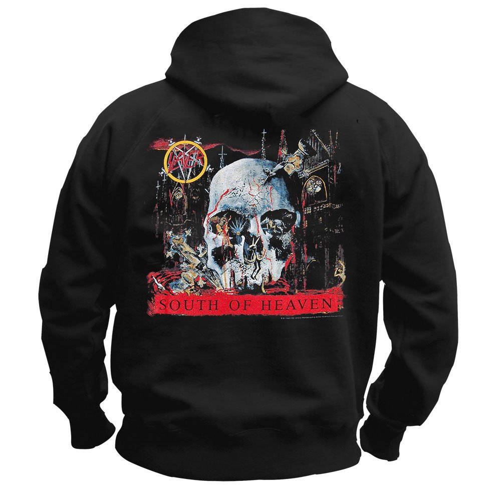 Slayer SOUTH OF HEAVEN Pullover Hoodie NEW 100/% Authentic
