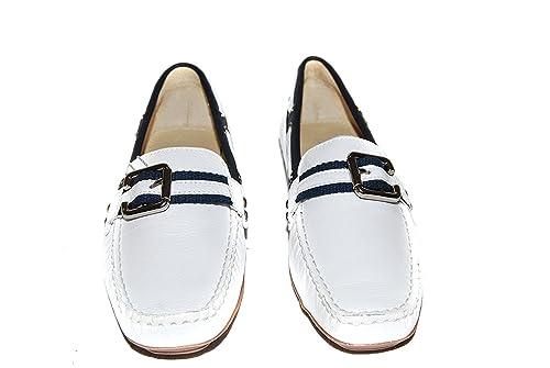 Inditex Stradivarius - Mocasines de Piel para mujer blanco Weiß, color blanco, talla 40 EU: Amazon.es: Zapatos y complementos