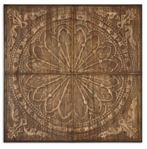 Uttermost Banana (Uttermost Camillus Rustic Wall Art with Real Banana Tree Bark Compressed Over Metal Embossing)