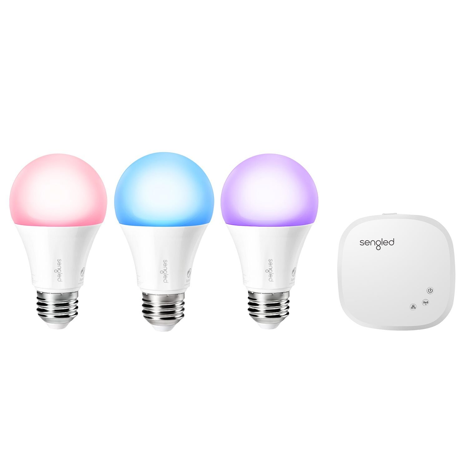 Sengled Element Color Plus Lighting Starter Kit, Control up to 64 Bulbs, 16 Million Color Output, Tunable Warm White to Daylight (2000K – 6500K), Compatible with Amazon Alexa and Google Assistant by Sengled