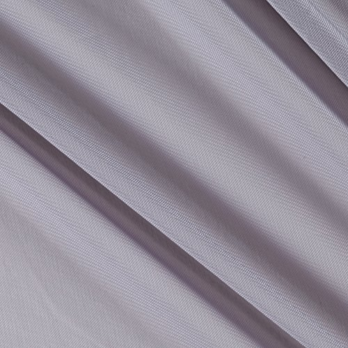 - Ben Textiles Chiffon Solid Silver Fabric By The Yard