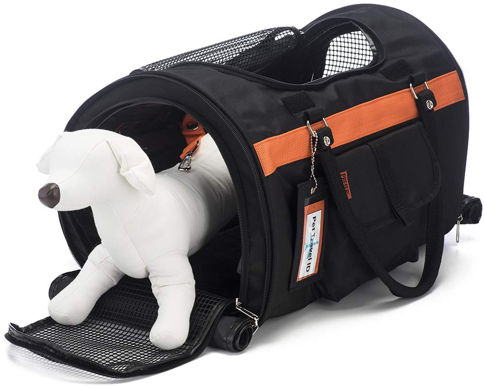 Prefer Pets Hideaway Pet Airline Approved Travel Carrier Duffel Bag & Backpack Helps Reduce Pet's Fear & Anxiety by Prefer Pets Travel Gear