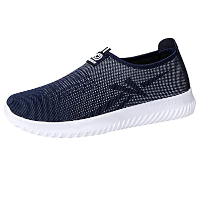 eb1398f9799cbf Chaussures ADESHOP Mode Sneakers Hommes Chaussures Slip-on Outdoor Les  Loisirs Travail Mesh Respirant Baskets
