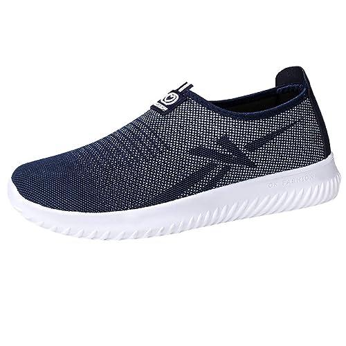 296314b4eb Scarpe Uomo Sportive Leggere Sneaker da Ginnastica Senza Lacci Slip-On  Outdoor Casual Shoe Scarpe Traspiranti A Rete Traspirante