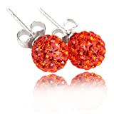 Amazon Price History for:Crystal Ball Sterling Silver 10mm Stud Earrings