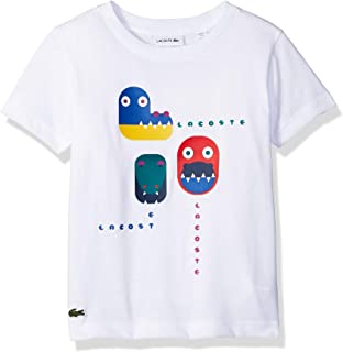 b85b5cc38 Amazon.com  Lacoste Boy Short Sleeve Video Game All Over Print Pique ...