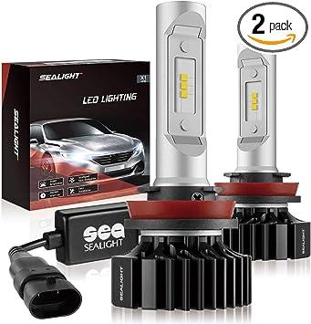H11//H8//H9 LED Headlight Bulbs Conversion Kit DOT Approved SEALIGHT X1 Series