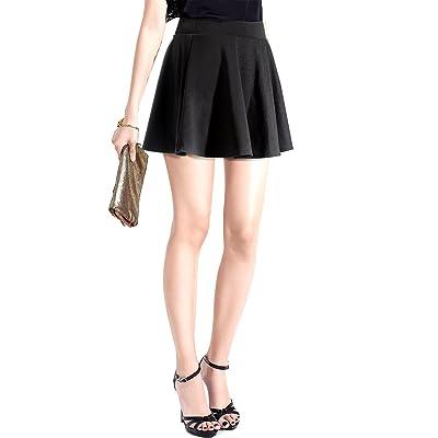 567872dbdcd719 MinYuocom Jupe Patineuse Évasée Mini Jupe Plissée Avec Sous-vêtement ...