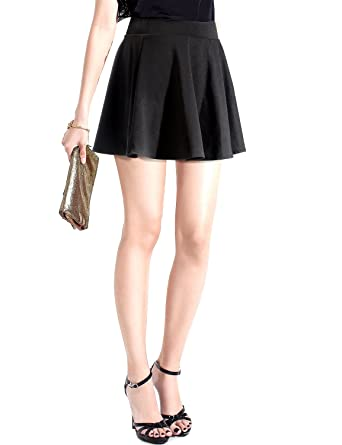 MinYuocom Jupe Patineuse Évasée Mini Jupe Plissée avec sous-vêtement pour  Femme MZF5524B-S 85072e4b0242