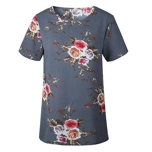 FAMILIZO Camisetas Mujer Manga Corta Camisetas Mujer Tallas Grandes Camisetas Mujer Verano Blusa Mujer Sport Tops Mujer Verano: Amazon.es: Ropa y accesorios