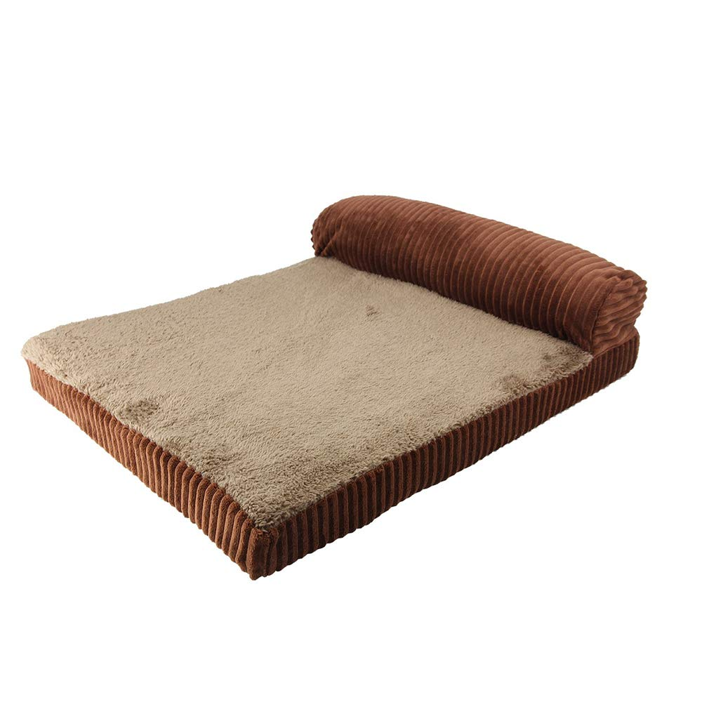 Brown Large Brown Large Pet Supplies Dog bed removable and washable, pet pillow bed, large and medium dog bed