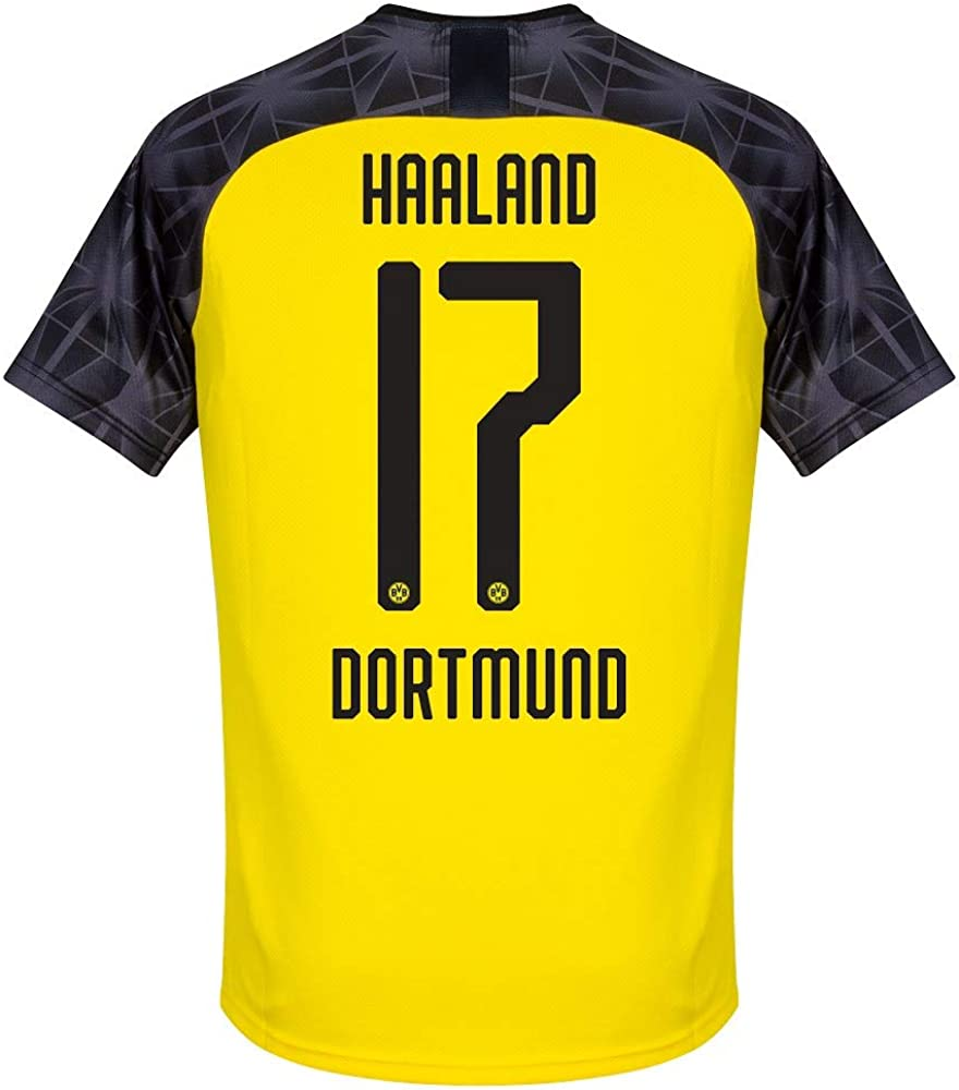 Puma Borussia Dortmund Cup Haaland 17 Shirt 2019 2020 Official Printing Amazon Co Uk Clothing