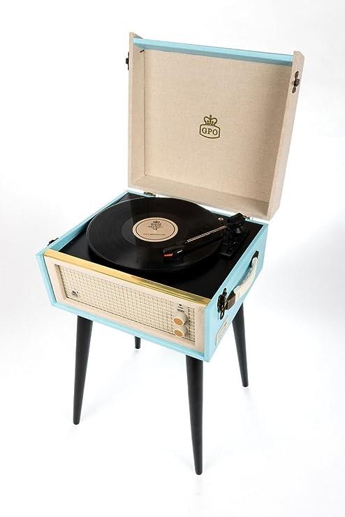 GPO Bermudas Retro vinilo Tocadiscos MP3 USB, patas para un ...