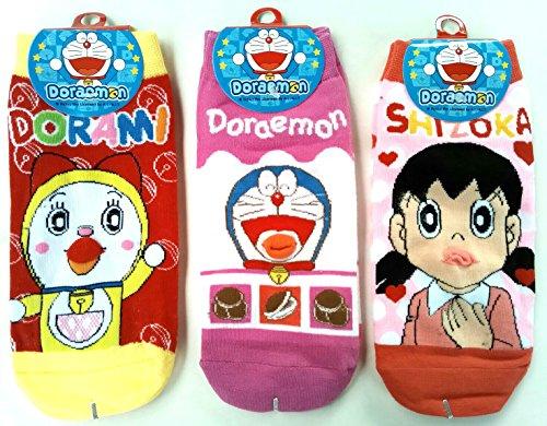 Doraemon Short Socks Children, with Shizoka and Dorami - Keepsake Stuffer Balloon Machine