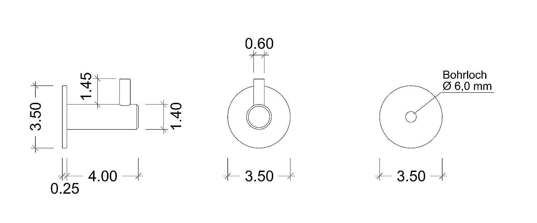 1 Pi/èce Gedotec Crochets de Porte-manteaux Muraux Barre en Acier Inoxydable avec 6 Pat/ères Suspendre V/êtement Cuisine MOON Chambre Serviette 460x25x3mm Outil dans Hall