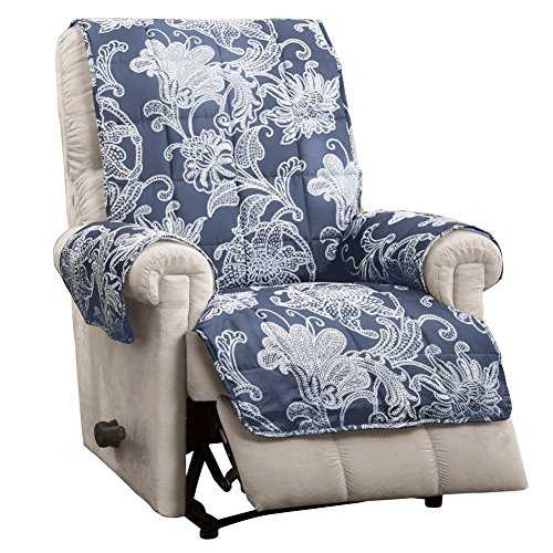 Quilted Furniture Protector Recliner Scrollwork