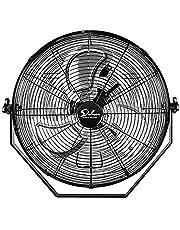 Simple Deluxe 18 Inch Industrial Wall Mount Fan, 3 Speed Commercial Ventilation Metal Fan for Warehouse