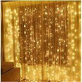 Twinkle Star 10ft X 10ft 400 LED Window Curtain String Light Ramadan Gift Wedding Party Garden Bedroom Indoor Outdoor Wall Decoration