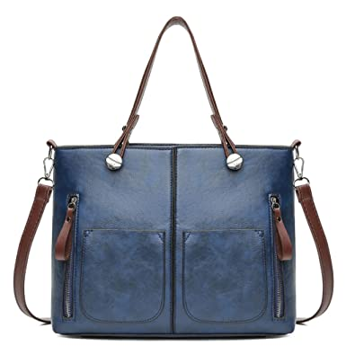 f754c79927 DEERWORD Femme Sacs bandoulière Sacs portés main Sacs menotte Sacs portés  épaule Sacs cartables Bleu