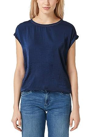 s.Oliver RED LABEL Damen Blusenshirt mit Häkel Details: s