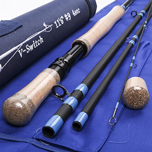 (M MAXIMUMCATCH Maxcatch Two-Handed Switch Fly Rod Carbon 4-Piece Switch Rod Fly Fishing (11'0'' 7 wt 4 sec))