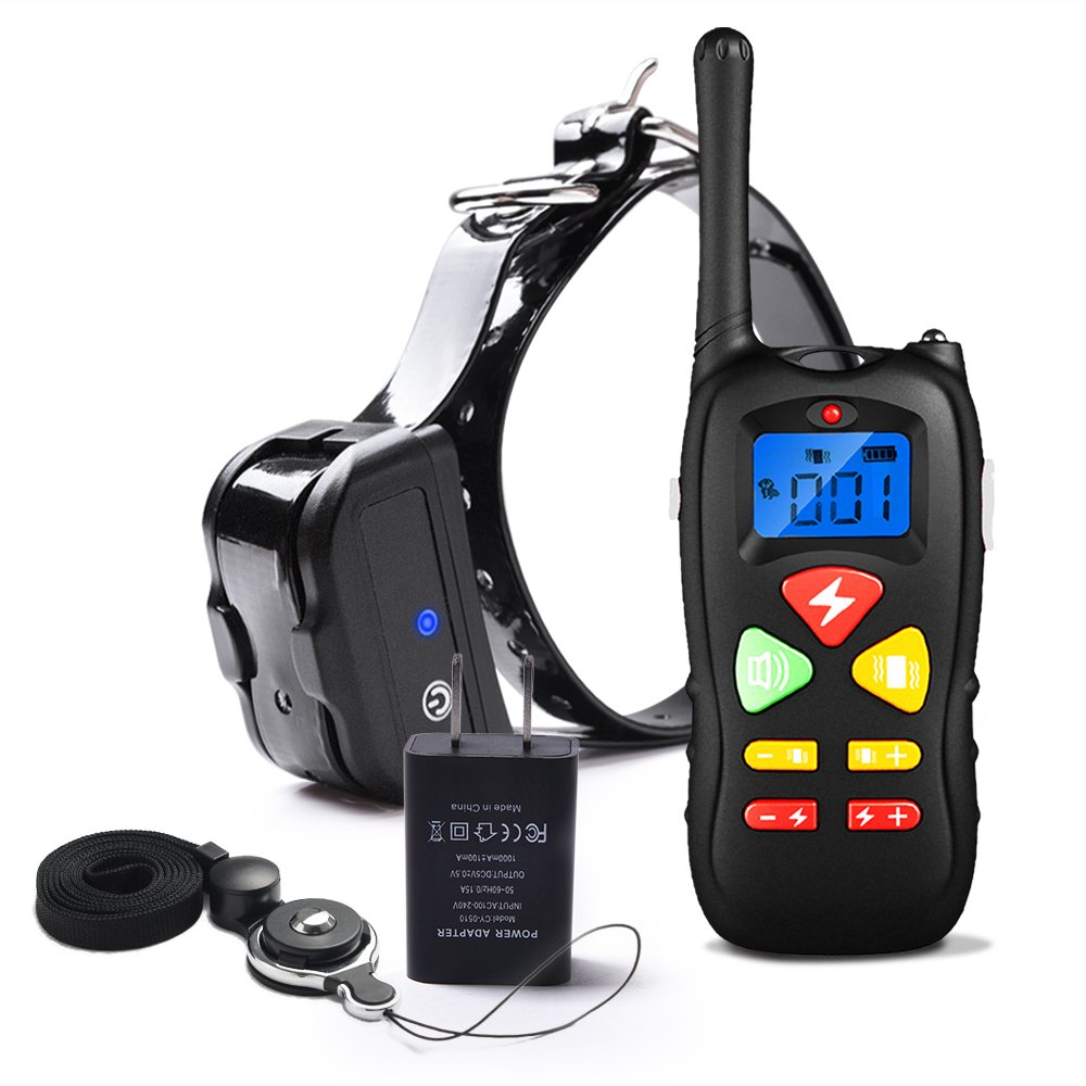 Pet Inn Training Collar with Remote for Small Medium Large Dogs, Waterproof and Rechargeable 1500ft Range Adjustable 100 Levels Vibration and Shock Collar