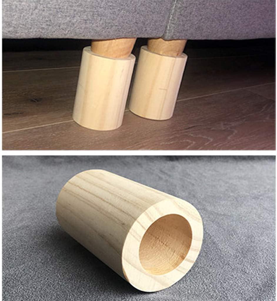 Gongff Piede Rialzato Per Mobili Gambe Per Tavoli Su Misura Letto Rialzo Gambe In Legno Divano Piedi Poggiapiedi Poggiapiedi Tavolino Blocco Piedi Piede Di Supporto Fissaggi Per Mobili Fai Da Te