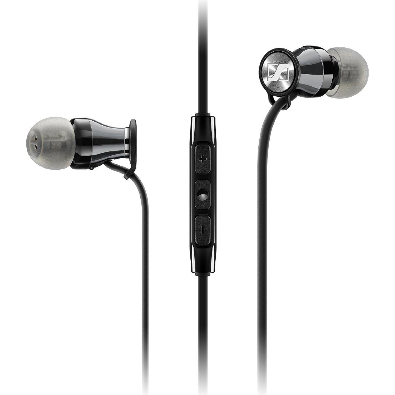 Sennheiser M2 MEi (iOS) In-Ear Canal Headset, Black Chrome