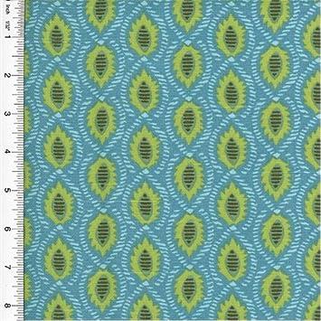 Amazon.com: Annie Selke Foulard Print Blue Home Decorating Fabric ...