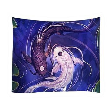 Amazon xinhuaya yin yang tapestry pair of koi fish yin yang xinhuaya yin yang tapestry pair of koi fish yin yang balance philosophy concept bedroom living publicscrutiny Image collections