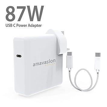 Adaptador de corriente USB C de 87 W, cargador para MacBook ...