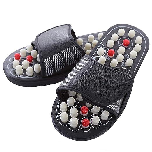 a7e7b4a2239f4 Amazon.com: Evaliana Acupoint Rotating Foot Massage Shoes Slippers ...