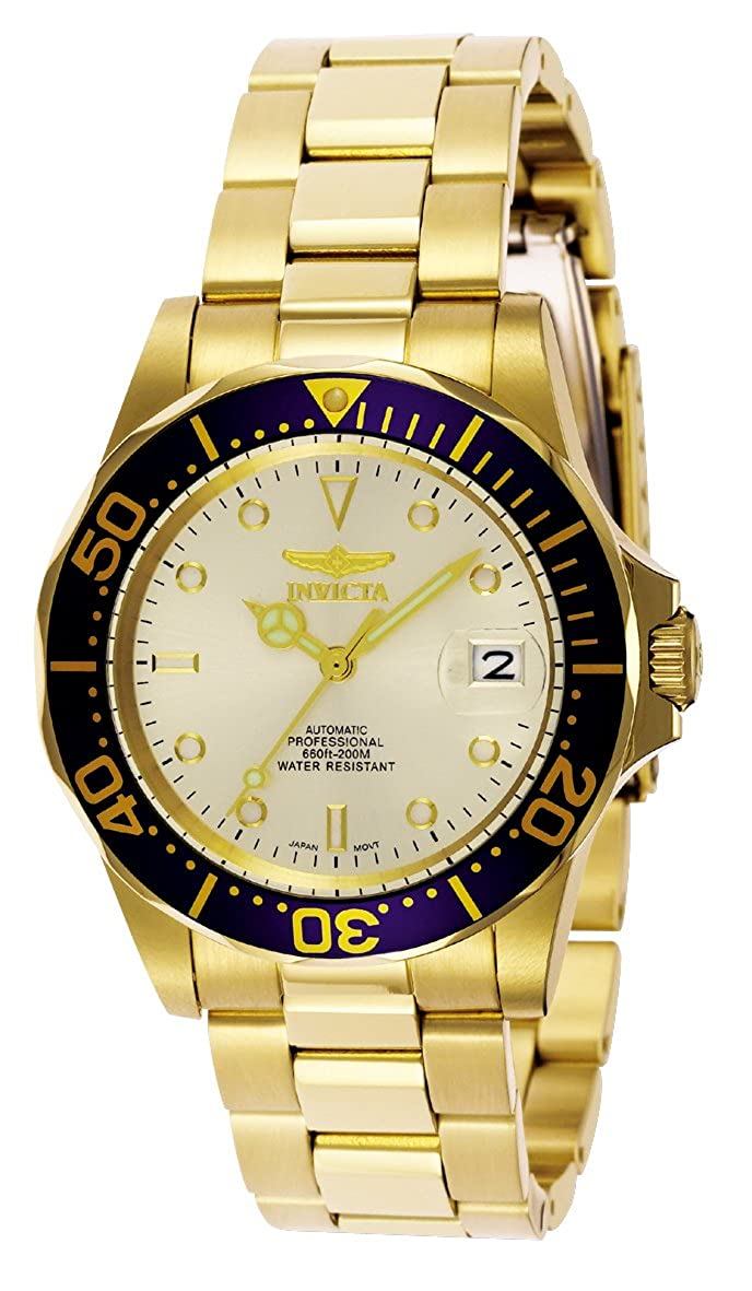 Amazon.com: Invicta Men's 9743 Pro Diver Collection Gold-Tone Automatic  Watch: Invicta: Watches