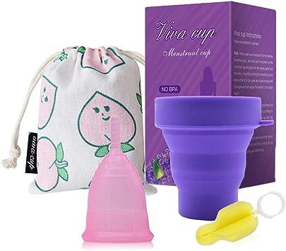 Sanitech Copa Menstrual de Silicona de Grado Médico ...