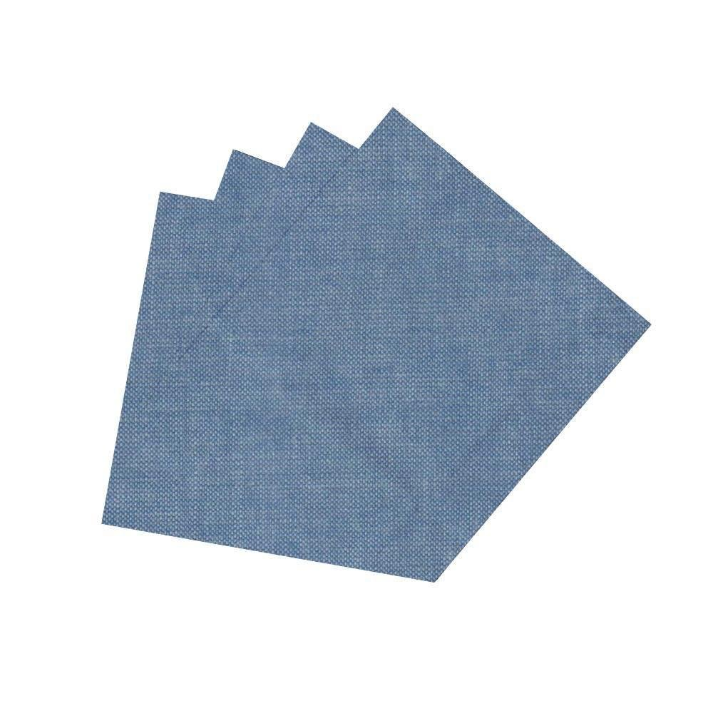 Patch Magic Blue Light Denim Fabric Napkin, 20-Inch by 20-Inch