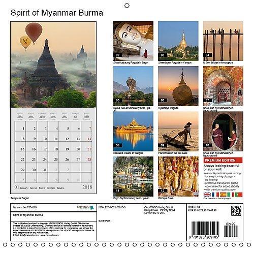 spirit of myanmar burma 2018 myanmar the golden land calvendo places amazoncouk buddhaart 9781325269105 books