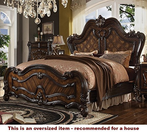 ACME Versailles Cherry Oak Eastern King Bed (Set Furniture Asian Bedroom)