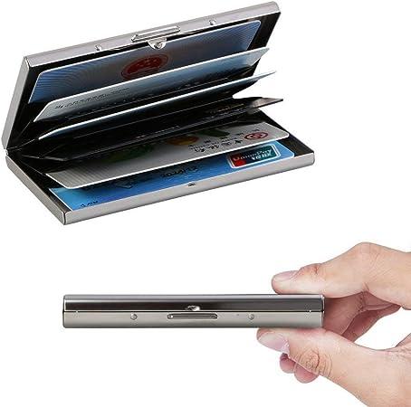6 Slots pour Vos Cartes de Cr/édit Vicloon Porte-Carte de Cr/édit Visite M/étallique avec la Technologie de Blocage RFID,Cool Etui de Carte de Visite Slim M/étal