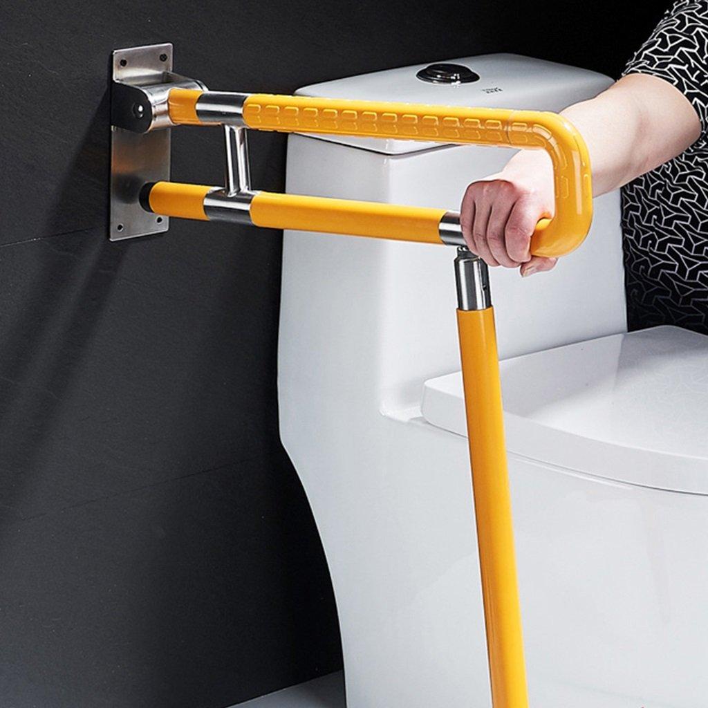 アクセシブルトイレ折りたたみ手すりトイレ障害者老人安全トイレバスルーム折りたたみトイレアームレスト(白と黄色) ( 色 : イエロー いえろ゜ , サイズ さいず : 60 cm 60 cm ) B07BSF553T 60 cm 60 cm|イエロー いえろ゜ イエロー いえろ゜ 60 cm 60 cm